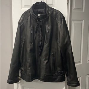 Calvin Klein heavy leather jacket xxl